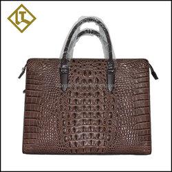New style popular high quality genuine crocodile leather skin briefcase bag