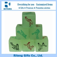 China High Quality Polyhedral Plastic Sex Dice For Promotion