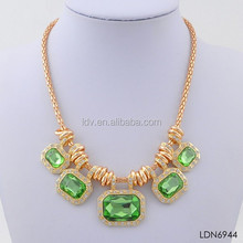 Floating Faceted Charms Crystal Wholesale Present for Mother's Day Neaklace