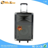subwoofer box big audio speakers usb port trolley speaker with fm radio