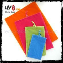 Customized microfiber pouch for ipad, ipad microfiber pouch, mini ipad pouch