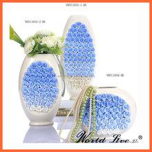 Ceramic Roses Flower Vase for Large Garden