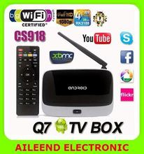 Quad core rk3188 XBMC Android 4.4 wifi bluetooth CS918 TV BOX cs918s ii tv box apk installer google play
