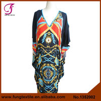 1352002 Women Long Design Unique Pattern Relaxed Cotton Fashion Women Rrab Kaftan
