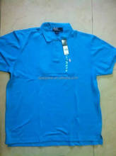 Export branded apparel stock lot 100 cotton polo t-shirts