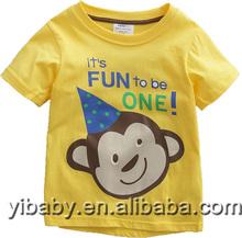 High quality cheap fashion children's summer short sleeve Monkey pattern t-shirts kids tops