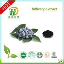 GMP factory supply pure natural blueberry extract powder/bilberry extract