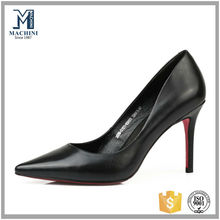 Quality china womens leather office shoes, office lady leather dress pumps