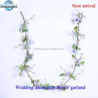 Purple sunflower decorated indian flower garland for wedding decoration