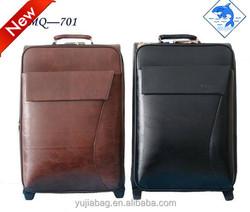 2015 Fashion leather universal wheel trolley luggage , trolley bag , leather bag .
