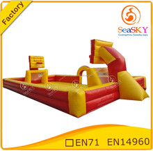 Sports arena football playing field inflatable , inflatable football arena