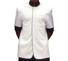Men Mandarin Collar Short Sleeve Jacket Hotel Uniform Design Bellboy Uniform for Hotel Doorman Uniform Mens Jackets WS634