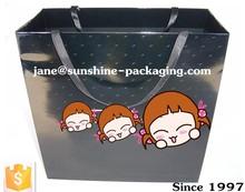 ribbon handle paper carrier bag