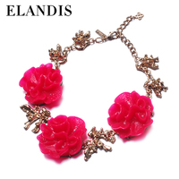 E-ELANDIS fashion colorful acrylic flower necklace fashionable jewelry
