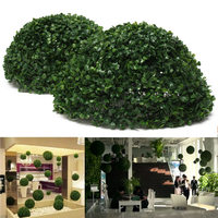 green landscaping removable 35cm Plastic Topiary Leaf Effect grass Ball trees Hanging Indoor and Outdoor decoration