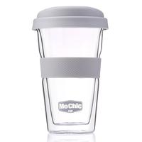 Handmade High Borosilicate Bodum for Drinking, Double wal Glass Coffee Cup, Mugs for tea& Juice
