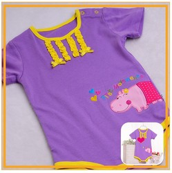 new born soft eco organic material t- shirt baby summer