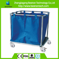 China BT-SLT001 bottom price hospital laundry trolley dirty clothes cart stainless steel soiled linen trolley