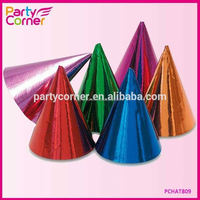 Party Accessories Foil Cone Hats