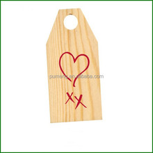 Christmas Decorative Wooden Tags - Branded ' Heart and Kisses