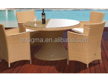 2015 Sigma Hot sale resin rattan high end furniture formal french provincial dining room set