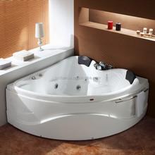 Free Standing Simple Corner Acrylic Whirlpool Bathtub (CA-F6008)
