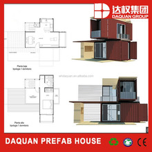 2015 Daquan brand Prefabricated Flat Pack Container House Floor Plans with CE ,ISO certification