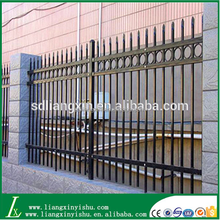 modern community fence design with galvanized steel