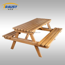 Household outdoor furniture wood decking bench and table