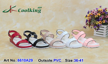 2015 New style High quality Cheap price Manufacturer directly PVC slippers Lady sandal sandal 2015 ladies sandal shoes