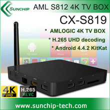 New Product Amlogic S812 Quad Core 2GB 16GB h.265/HEVC Media HUD For Android Kitkat 4.4