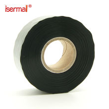 isermal ISM-02-25 double sided tape silicone adhesive,waterproof rubber tape self fusing silicone tape black color