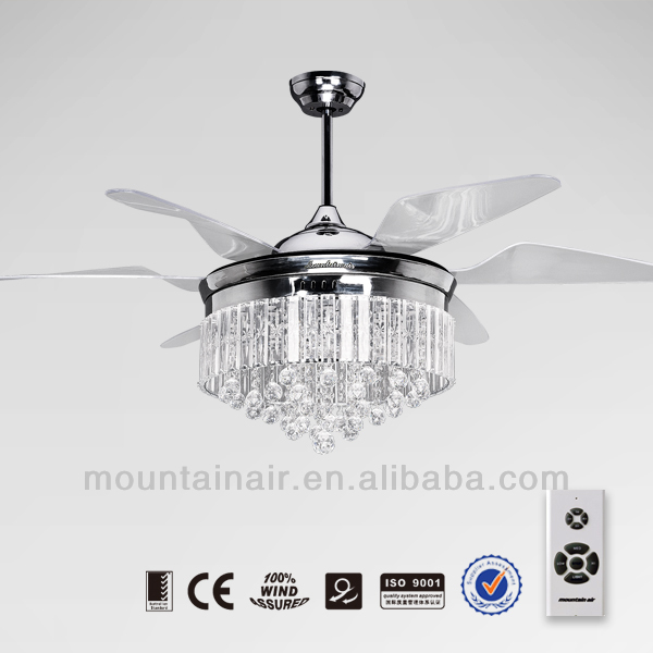 High Quality Multi Function Decorative Elegant Style Led: Mountainair Crystal Lamp Decorative Ceiling Fan With High