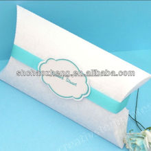 Fancy Top Quality Paper Pillow Boxes Logo Printing