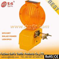 solar portable security barricade block lamp warning light