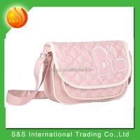 48 hours delivery goods for cheap women pink sling shoulder bag