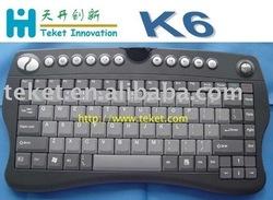 2.4G Wireless Keyboard with Trackball K6,Slim,Ultra-stylish design-butterfly in shape