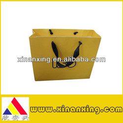 Eco-friendly yellow paper bags for shopping