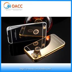 luxury gold aluminium metal bumper case for iphone 6s,for iphone 6s case aluminum mirror back