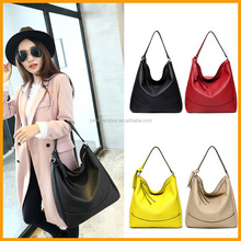 Western Style Plain Fashion Trend 2015 Shoulder Tote Women Leather bag
