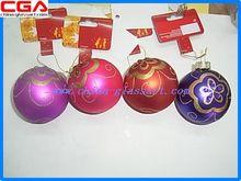 vendedor caliente del árbol de navidad calcomanía bola de navidad bola de cristal