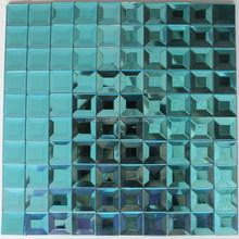Beveled Mirror Mosaic Tile in blues