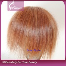 Wholesale High Quality Natural Hair Super Thin Skin Indian Remy Human Hair Toupee / Wig for Men and Women