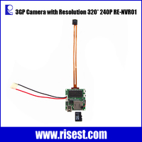 Invisible Mini Camera 3GP for Long Time Record with Infrared Night Vision and Motion Detection