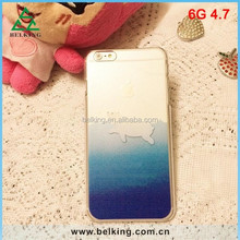 For iPhone 6 PC transparent clear case, Ocean Sea for iPhone 6 dolphins case