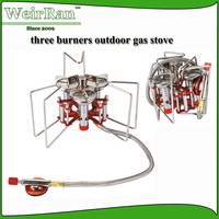 (7262) New design good outlook powerful three burners high quality indoor portable gas stove