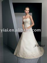 2012 Sweetheart Beaded Satin A-line Wedding Dress