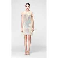 Good quality special mature ladies satin silk dress
