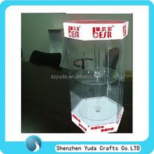 Oem disegno fatto a mano acrilico vetrina illuminazione a led gabinetto, di plastica trasparente acrilico vetrina espositiva con chiave