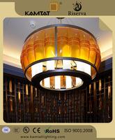 modern drum shape crystal glass chandelier in hotel project
